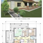 Проект одноэтажного кирпичного дома до 100 кв.м