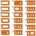 Схема кладки рядов печи
