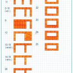 Чертёж-схема кладки порядовки мангала