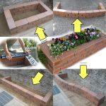 Этапы изготовления простой клумбы из кирпича