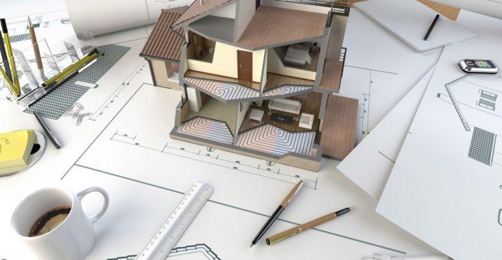 Планировка кирпичного дома