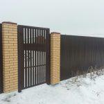 Забор с ПИКС панелями