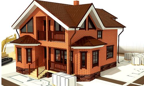 Подъем кирпичного дома для ремонта