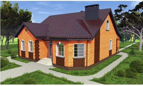 Строительство дома из кирпичей