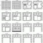 Схема кладки кирпичных рядов для печи