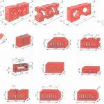 Основные формы и размеры кирпича