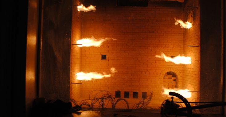 Испытание на огнестойкость кирпичных стен