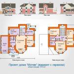 Проект двухэтажного кирпичного дома с гаражом