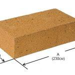 Размеры шамотного кирпича