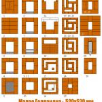 Схема кладки малой голландки