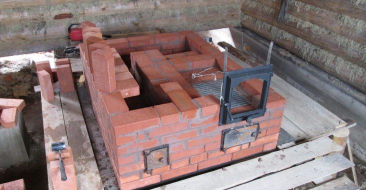 Строительство печи для бани