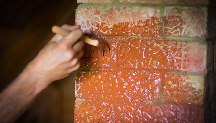 Чем покрасить печь из кирпича оштукатуренную